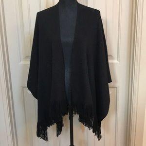 Black Wrap Sweater OSFM